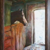 Skaties uz gaismu, zirgs! | Look at the light, horse! | 2010 | 80x60 | Framed | Available