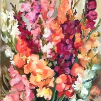 Augusts (gladiolas) | August | 2013 | 50x70 | Not available