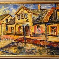 Bauskas ieliņas | Streets of Bauska | 2018 | 70x50 | Framed |Available