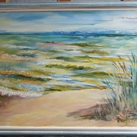 Jūra un smilgas (2) | Sea and grass (2) | 2014 | 50x70 | Not available