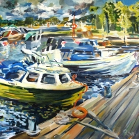 Kerimaki osta | Pier in Kerimaki | 2012 | 50x60 | Available