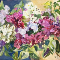 Latvijā zied (ceriņi) | In Latvia blossoms | 2017 | 40x50 | Not available