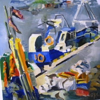 Ostā | In the port | 2009 | 40x40 | Available