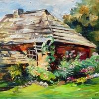 Pirtiņa Medniekos | Old Sauna in Mednieki | 2013 | 50x70 | Not available