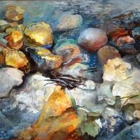 Saules un akmeņu spēles | The play of stones and sun | 2001 | 88x104 |Framed  Available