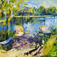 Svētaiņu ezers Zvārdē | Svetainu Lake at Zvarde | 70x90 | Not available