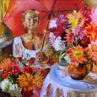 Ziedu pārdevēja | Flowers' seller | 2011 | 46x55 | Available